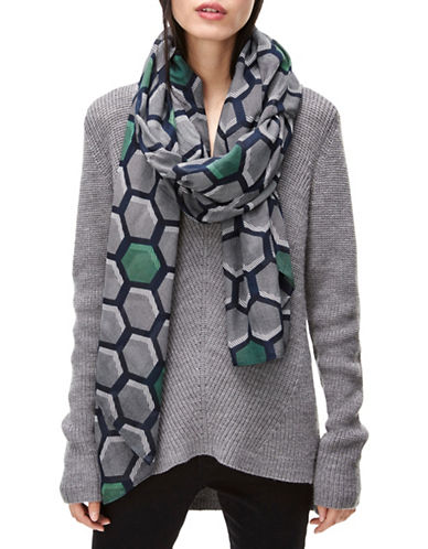 Liebeskind Hexagon Printed Scarf-GREEN-One Size