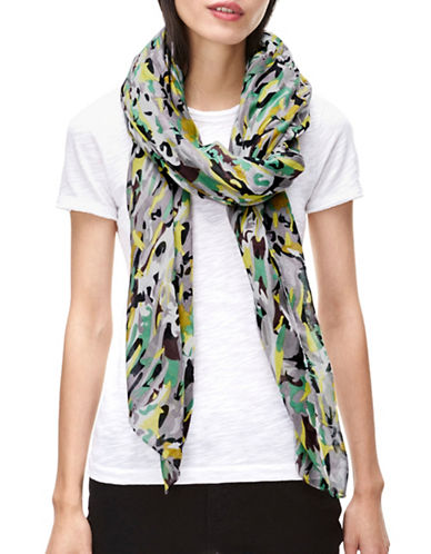 Liebeskind Camo Printed Scarf-GREEN-One Size