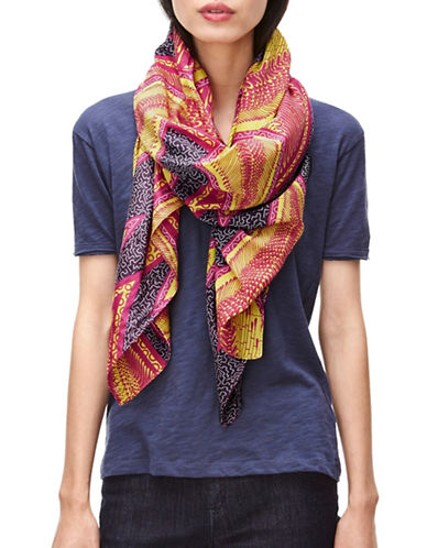 Liebeskind Silk Blend Jungle Leaf Scarf-PINK-One Size