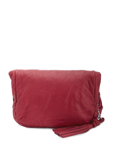 Liebeskind Suzuka Leather Crossbody Bag-RED-One Size