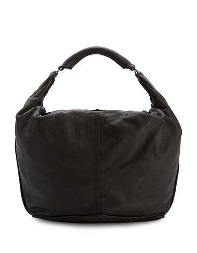 Liebeskind Tumba Leather Hobo Bag-BLACK-One Size