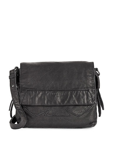 Liebeskind Funda Floral Cotton and Leather Crossbody-BLACK-One Size