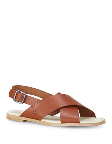 Liebeskind Leather Flat Sandals-BROWN-EUR 39/US 9