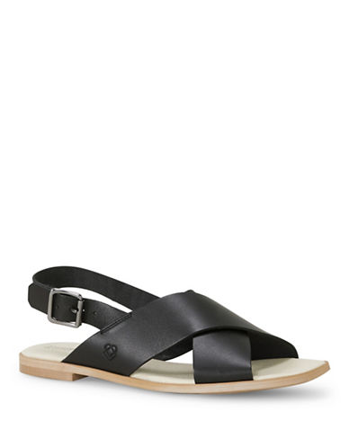 Liebeskind Leather Flat Sandals-BLACK-EUR 36/US 6
