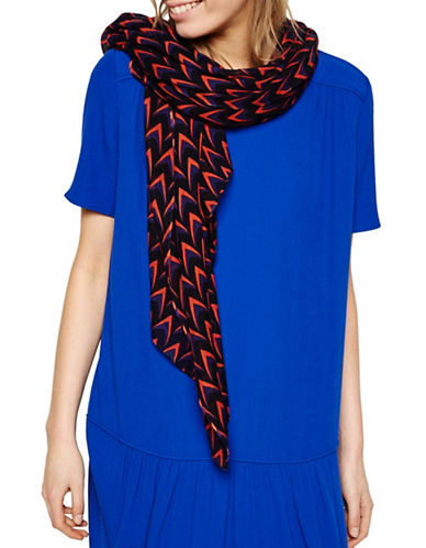 Liebeskind Arrow Printed Scarf-BLACK-One Size
