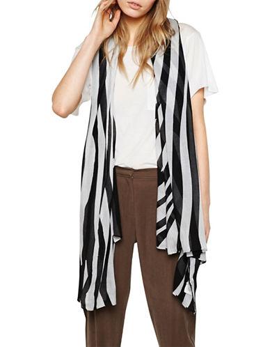 Liebeskind Zebra Printed Scarf-BLACK-One Size