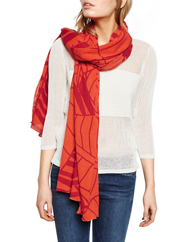 Liebeskind Coast Jungle Printed Scarf-CORAL-One Size