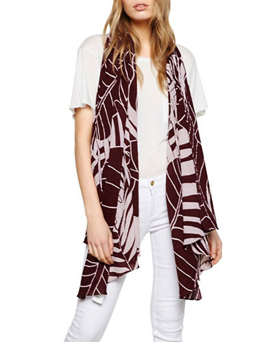 Liebeskind Coast Jungle Printed Scarf-RED MULTI-One Size