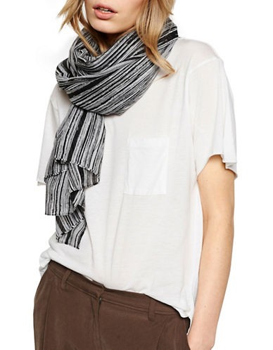 Liebeskind Strokes Printed Scarf-BLACK-One Size