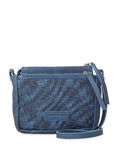 Liebeskind Katima Leather Crossbody Bag-BLUE-One Size