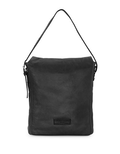 Liebeskind Kigali Leather Messenger Bag-BLACK-One Size