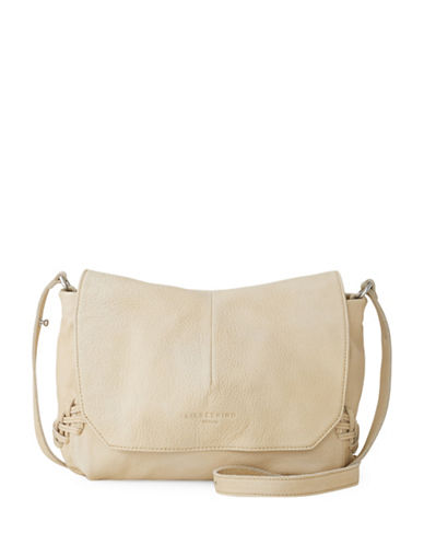 Liebeskind Marobela Leather Messenger Bag-BEIGE-One Size