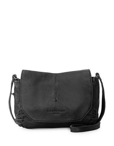 Liebeskind Massawa Leather Messenger Bag-BLACK-One Size