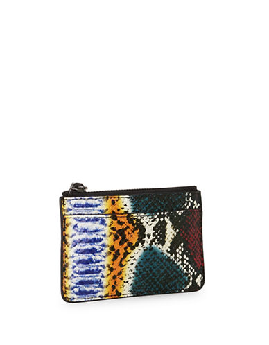 Liebeskind Sambess7 Snake-Embossed Leather Pouch-WHITE-One Size