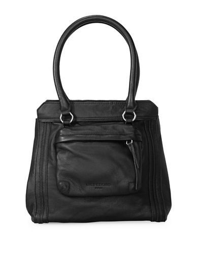 Liebeskind Malavi Leather Satchel-BLACK-One Size