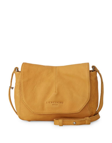 Liebeskind Massawas7 Leather Messenger Bag-YELLOW-One Size