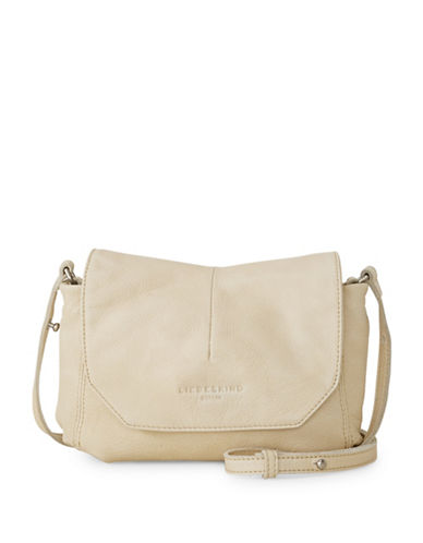 Liebeskind Massawas7 Leather Messenger Bag-BEIGE-One Size