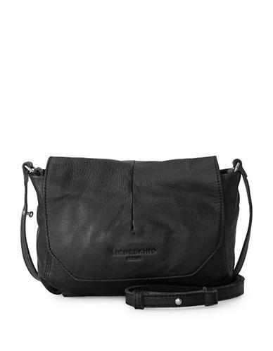 Liebeskind Massawas7 Leather Messenger Bag-BLACK-One Size