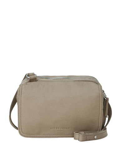 Liebeskind Maike 7 Leather Crossbody Bag-STONE-One Size