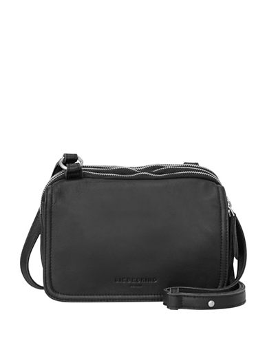 Liebeskind Maike 7 Leather Crossbody Bag-BLACK-One Size