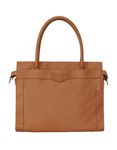 Liebeskind Glory Leather Satchel-COGNAC-One Size