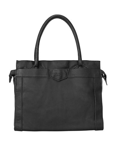 Liebeskind Glory Leather Satchel-BLACK-One Size