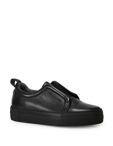 Liebeskind Leather Slip-On Flat Sneakers-BLACK-EUR 40/US 10