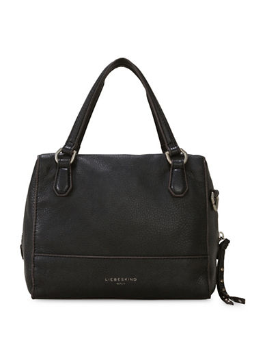 Liebeskind Detriot Leather Satchel-BLACK-One Size