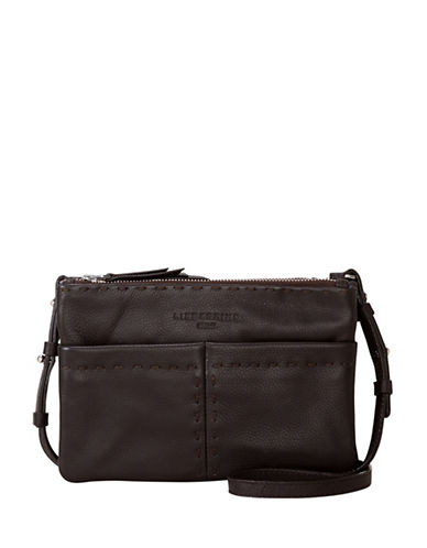 Liebeskind Greensboro Leather Crossbody Bag-BROWN-One Size