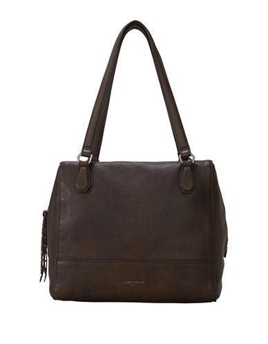 Liebeskind Mesa Milled Leather Shoulder Bag-BROWN-One Size