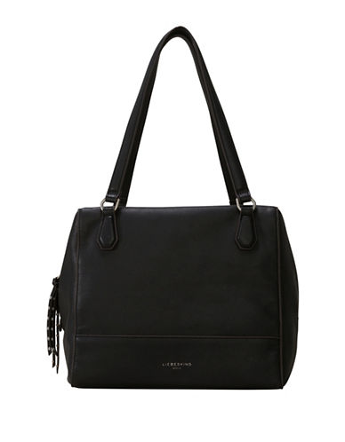 Liebeskind Mesa Milled Leather Shoulder Bag-BLACK-One Size
