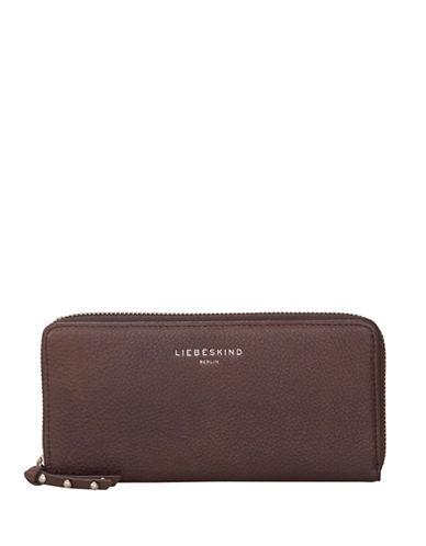 Liebeskind Sally Leather Zip-Around Wallet-GREY-One Size