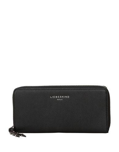 Liebeskind Sally Leather Zip-Around Wallet-BLACK-One Size