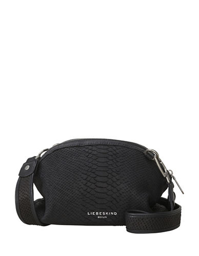 Liebeskind Tuscon Leather Crossbody Bag-BLACK-One Size