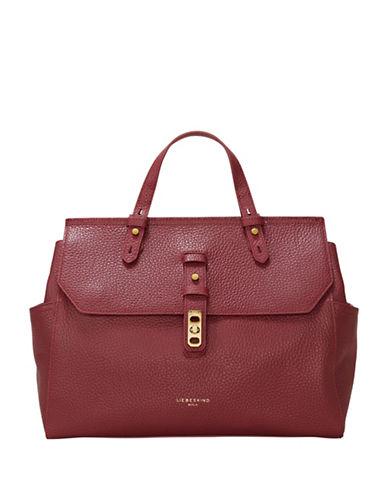 Liebeskind Idaho Leather Satchel-RED-One Size