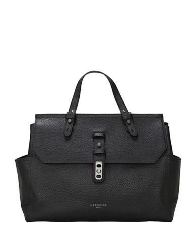 Liebeskind Idaho Leather Satchel-BLACK-One Size