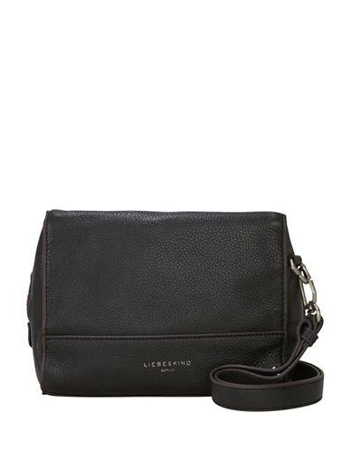 Liebeskind Syracuse Leather Shoulder Bag-BLACK-One Size