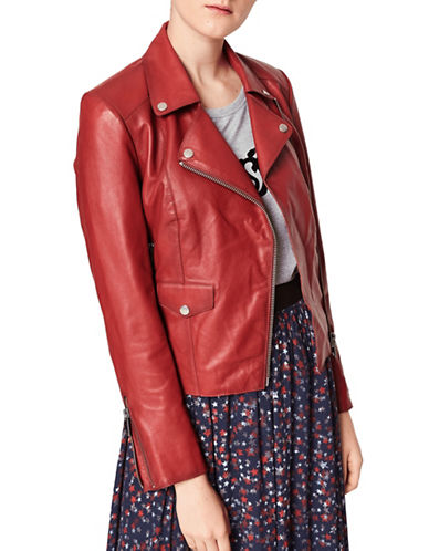 Liebeskind Classic Biker Jacket-RED-Medium