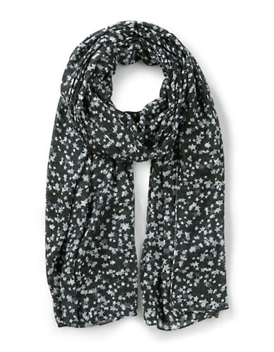 Liebeskind Star-Print Scarf-BLACK-One Size