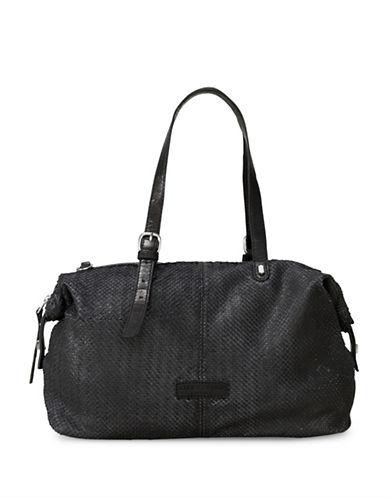 Liebeskind Belair Leather Satchel-BLACK-One Size