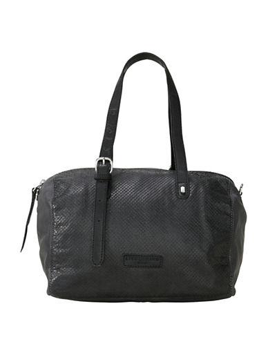 Liebeskind Pokola Leather Satchel-BLACK-One Size