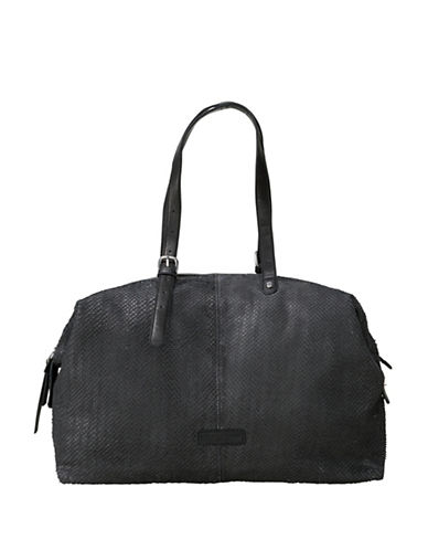 Liebeskind Leather Satchel-BLACK-One Size