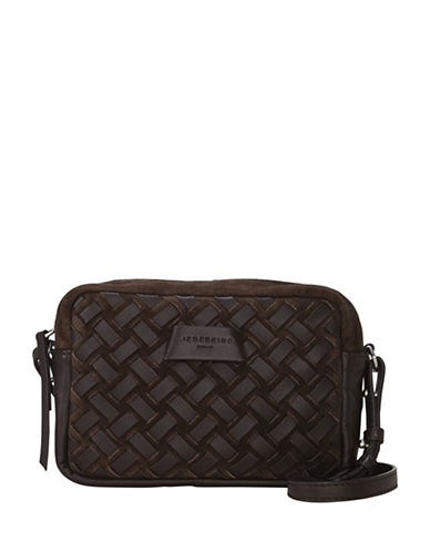 Liebeskind Pasadena Leather Woven Shoulder Bag-BROWN-One Size
