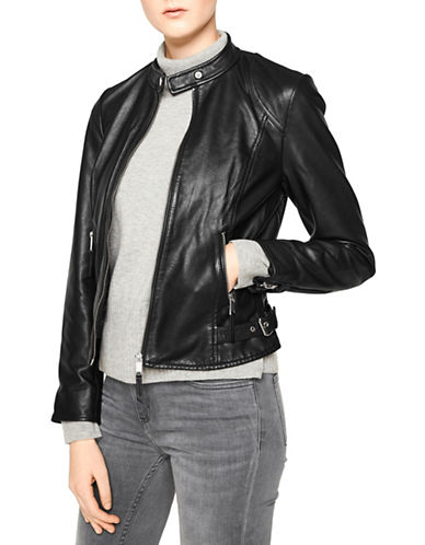 Liebeskind Moto Leather Jacket-BLACK-X-Large