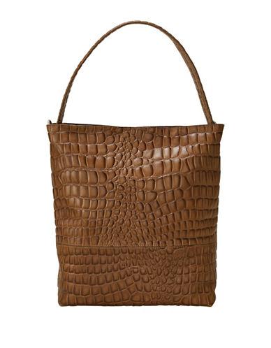 Liebeskind Tribeca Leather Hobo Bag-BEIGE-One Size
