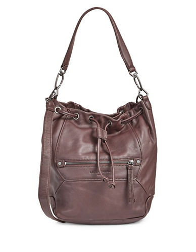 Liebeskind Brooklyn Bucket Bag-DARK RED-One Size
