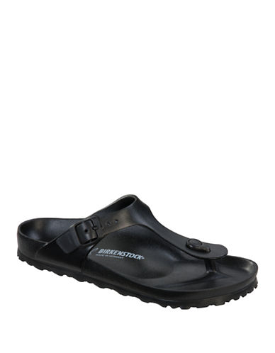 Birkenstock Womens Gizeh Sandals-BLACK-EUR 38/US 7