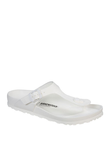 Birkenstock Womens Gizeh Sandals-WHITE-EUR 39/US 8