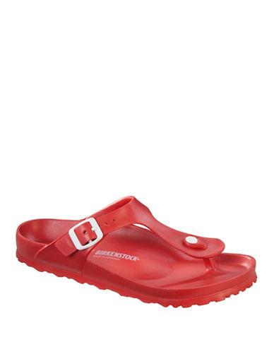 Birkenstock Womens Gizeh EVA Rubber Thong Sandals-RED-EUR 36/US 5