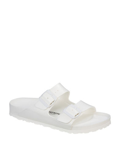 Birkenstock Womens Arizona Waterproof Double Strap Sandals-WHITE-EUR 39/US 8